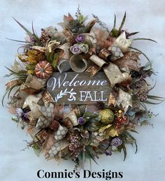 Welcome Fall by Connie's Designs