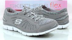 Women's Shoes Skechers Flex Gratis TGIFT Slip On Sneakers Grey Size 9.5 #Skechers #Comfort