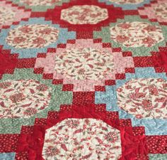 Trellis Garden Quilt Kit by Marilyn Foreman featuring Boundless Heirloom Bloom Fabric