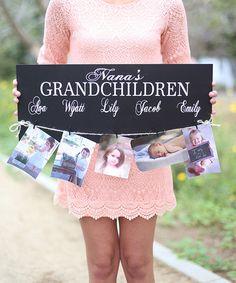 Loving this 'Grandchildren' Personalized Sign on #zulily! #zulilyfinds