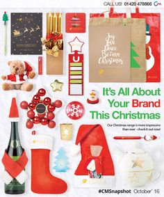 Christmas merchandise | Here's our 'most-popular' range of branded Christmas products! Say thank you to your customers for their support, or simply say Merry Christmas (a.k.a. think of me next time you need something!). Find these here > http://www.completemerchandise.co.uk/snapshot-categories/promotional-snapshot-christmas-2016.html
