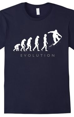 Snowboard Tshirt - Snowboarders - The next step in human evolution. This snowboarding tshirt is a great gift for the snowboarder on your list. #snowboards #snowboarding #snowboarder http://tumbletee.com/pevosnowboarder