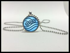 Water Tribe Necklace and silver pendant set - Avatar the last airbender jewelry - Katara's water tribe necklace