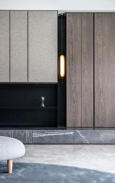 Appreciation of Tang Zhonghan's two major works Interior Design Inspiration, Home Interior Design, Modern Interior, Interior Architecture, Living Room Tv Unit Designs, Wall Decor Design, Japanese Interior, Modern Luxury, Living Room Interior