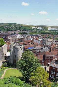 Lewes, Sussex, England, as seen from Lewes Castle