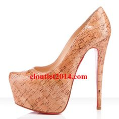 Discount Christian Louboutin Daffodile 160mm Cork Pumps Naturale