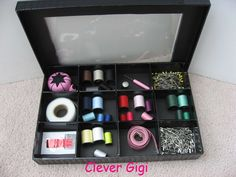 Peek-a-Boo! Treasure Box - store and organize sewing supplies.  $15.00  #craft organization