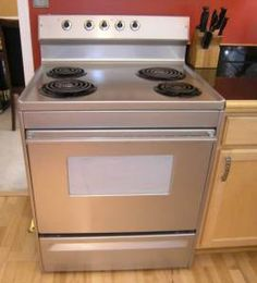 stainless steel appliance paint give the old stove a face lift fun ideas projects. Black Bedroom Furniture Sets. Home Design Ideas