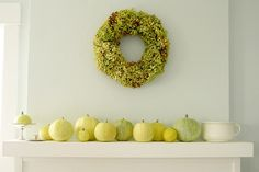 love the wall color and the green/yellow colors