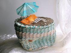 Hand made wicker basket beach от ecowickerwork на Etsy