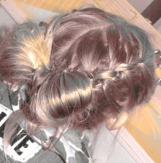 "knot braids to ""hair"" bow"