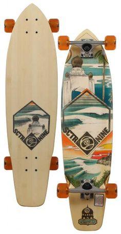 Sector 9 Swamis Longboard Skateboard - Orange For Sale at Surfboards.com (49110148)