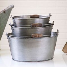 Oval Bucket Set Large-Med-Small
