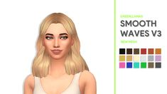 "greenllamas: ""SMOOTH WAVES HAIRS - GREENLLAMASSo I finally got round to releasing this hair, and guess what? It's a bob! I really like this hair and the texture but anyway details are as follows: • 18 EA swatches • 3 VERSIONS • HAT COMPATIBLE • BASE..."