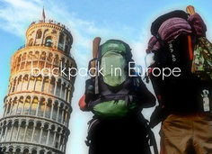 Backpack in Europe with my husband.