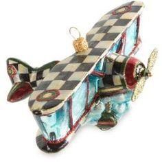 MacKenzie-Childs Airplane Ornament #ad