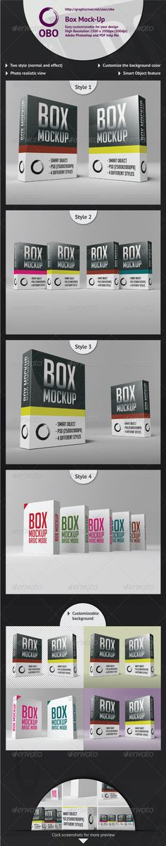 Box MockUp — Photoshop PSD #professional #branding • Available here → https://graphicriver.net/item/box-mockup/2613297?ref=pxcr