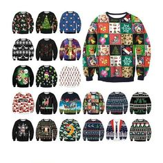 Christmas Sweaters for Every Taste Ugly Christmas Sweater Women, Ugly Sweater, Christmas Sweaters, Men Sweater, Jumper, Unisex, Winter Outfits, Elf Funny, Elegant