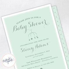 Classic Lace Baby Shower Invitation for Boy  by tickledpeachstudio, $15.00