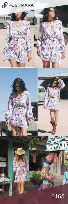 NEW Spell Designs Pandora Playdress Primrose M A gorgeous Spell playdress in our romantic Pandora print in soft primrose tones. With long, billowed sleeves and flattering draw string waist, it's easily belted and the perfect transeasonal piece. Spell & The Gypsy Collective Dresses Mini