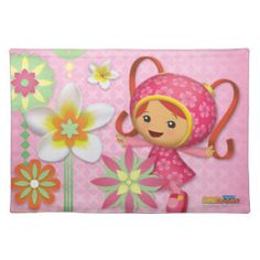 Milli With Pink Flowers Placemat | Team Umizoomi