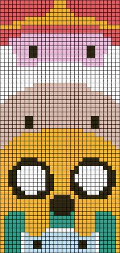 Adventure Time Perler Bead Pattern
