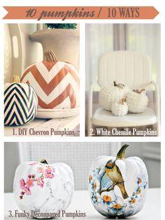 10 DIY pumpkins for fall
