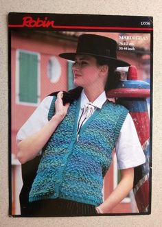 VINTAGE KNITTING PATTERN (No 13556) - LADIES WAISTCOAT - CHUNKY.  30  - 44