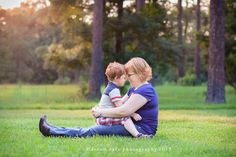 mom and son photo shoot