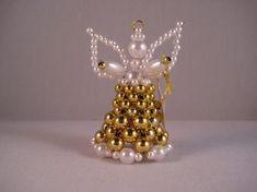 Beaded Angels, Xmas, Christmas, Homemade, Jewerly, Special Gifts, Dekoration, Home Made, Navidad