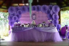 Purple Princess + Sofia the First Themed Birthday Party via Kara's Party Ideas