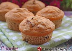 Muffins αρωματικά με σταφίδες Greek Cooking, Muffins, Recipies, Deserts, Brunch, Cupcakes, Favorite Recipes, Sweets, Candy