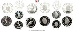 RITTER Norwegen, 4x 100 Kronor, 3x 50 Kronor, Winterspiele Lillehammer 1994, PP #coins #numismatics