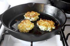 cauliflower fritters via Smitten Kitchen