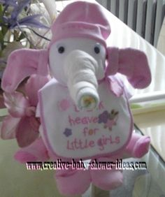 Diaper Elephant - How adorable is this for the next pregnant friend....