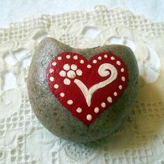 Heart Rock Art by tabachin on Etsy, $6.00