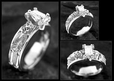 holy crap this is awesome skull/skeleton wedding/engagement ring