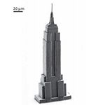 Micro! The 3D printed Empire State Building is measuring at 220 microns in height, which is 0.22 millimeters.
