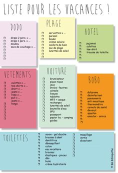jpg liste pour savoir quoi empor… – Holiday and camping ideas Planner Organisation, Journal Organization, Travel Organization, Paint Colors For Living Room, Teaching French, Bujo, Good To Know, Cheap Hotels, Viajes