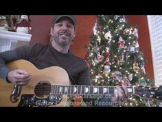 Silent Night - How to play on acoustic guitar Christmas song beginner lesson