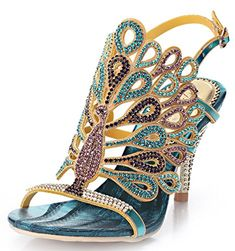 Looking for the perfect Geminigirl Womens Blue Wedding Shoes - Peacock Rhinestone Dress Sandals With Heels Blue 8 M Us? Please click and view this most popular Geminigirl Womens Blue Wedding Shoes - Peacock Rhinestone Dress Sandals With Heels Blue 8 M Us. Cute Shoes, Me Too Shoes, Peep Toes, Rhinestone Sandals, Rhinestone Dress, Crystal Rhinestone, Zapatos Shoes, Shoes Heels, Moda Casual