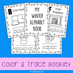 Preschool and Kindergarten mini alphabet book filled with Winter Words from A to Z and images for kids to color. Play Based Learning, Preschool Learning, Fun Learning, Teaching Kids, Winter Activities For Kids, Toddler Activities, Winter Words, Kindergarten Age, Alphabet Book