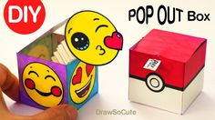 How to Make a Paper Box Tutorial This is one of the easiest Paper Box how tos you can find. The paper box is perfect for a little gift at Christmas or Mother's Day. Fun Easy Crafts, Paper Crafts For Kids, Diy Paper, Diy For Kids, Fun Diy, Paper Gift Box, Diy Gift Box, Diy Box, Pokemon