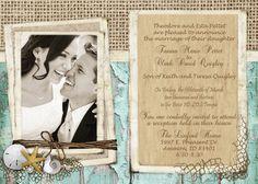 Rustic Beach Wedding Invitation over by MissBlissInvitations
