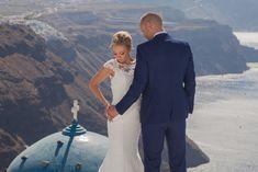 #divineweddings #santoriniwedding #santorinilocation Santorini Wedding, Wedding Planner, Suit Jacket, Breast, Suits, Wedding Dresses, Jackets, Fashion, Wedding Planer