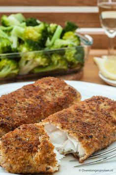 Kabeljauw in een krokant jasje - Maak van een mooi stukje witvis een feestje door het smaakvol te paneren en vervolgens goudbruin en krokant af te bakken.