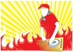 Illustration about Illustration with red fire dj in the mix. Illustration of clubbing, color, jockey - 7772168 Disney Characters, Fictional Characters, Dj, Snow White, Royalty Free Stock Photos, Fire, Disney Princess, Illustration, Color