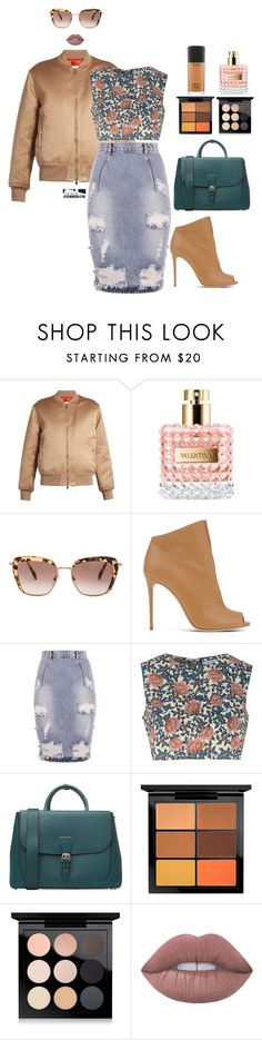 """""""Honey bomber"""" by theglamcorridor ❤ liked on Polyvore featuring Givenchy, Valentino, Miu Miu, Casadei, OneTeaspoon, Glamorous, Burberry, MAC Cosmetics and Lime Crime"""