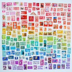 Artist Julie Seabrook Ream has been arranging everyday objects to form brilliant photo sets that mirror the colors of the rainbow. Using delicious foo Nine Patch, Rainbow Art, Rainbow Colors, Neon Rainbow, Rainbow Painting, Satisfying Photos, Rainbow Project, Artist Wall, Postage Stamp Art