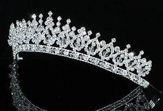 Sparkling Wedding Bridal Pageant Tiara use Swarovski Crystal Rhinestone Headband, Rhinestone Wedding, Crystal Rhinestone, Swarovski Crystals, Bridal Tiara, Bridal Veils, Sparkle Wedding, Hair Jewelry, Wedding Accessories